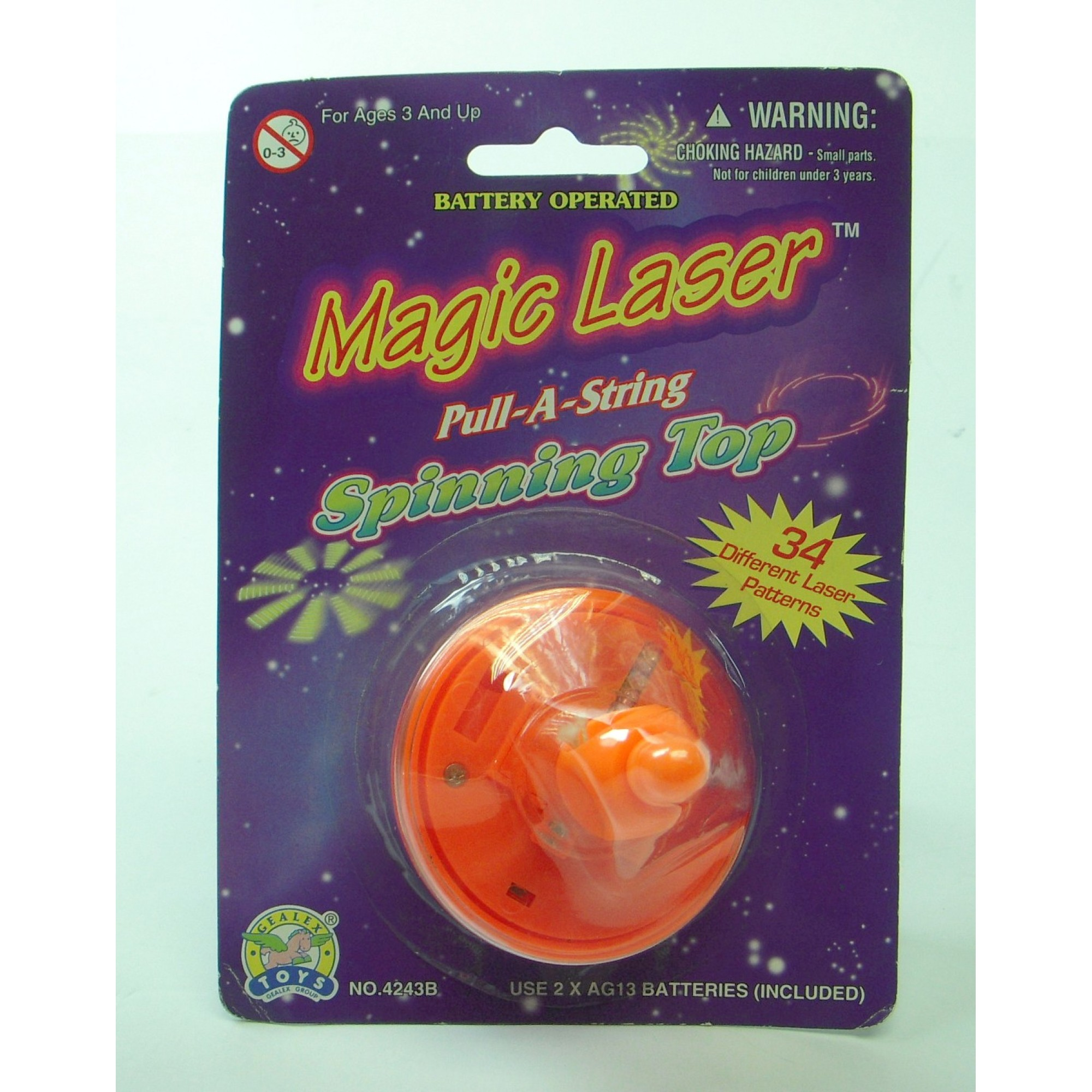 Magic Laser Pull-A-String Spinner