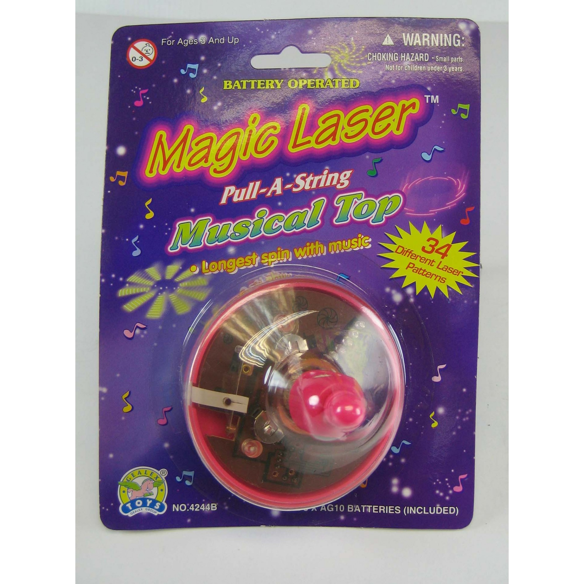 Musical Laser Pull-A String Spinner