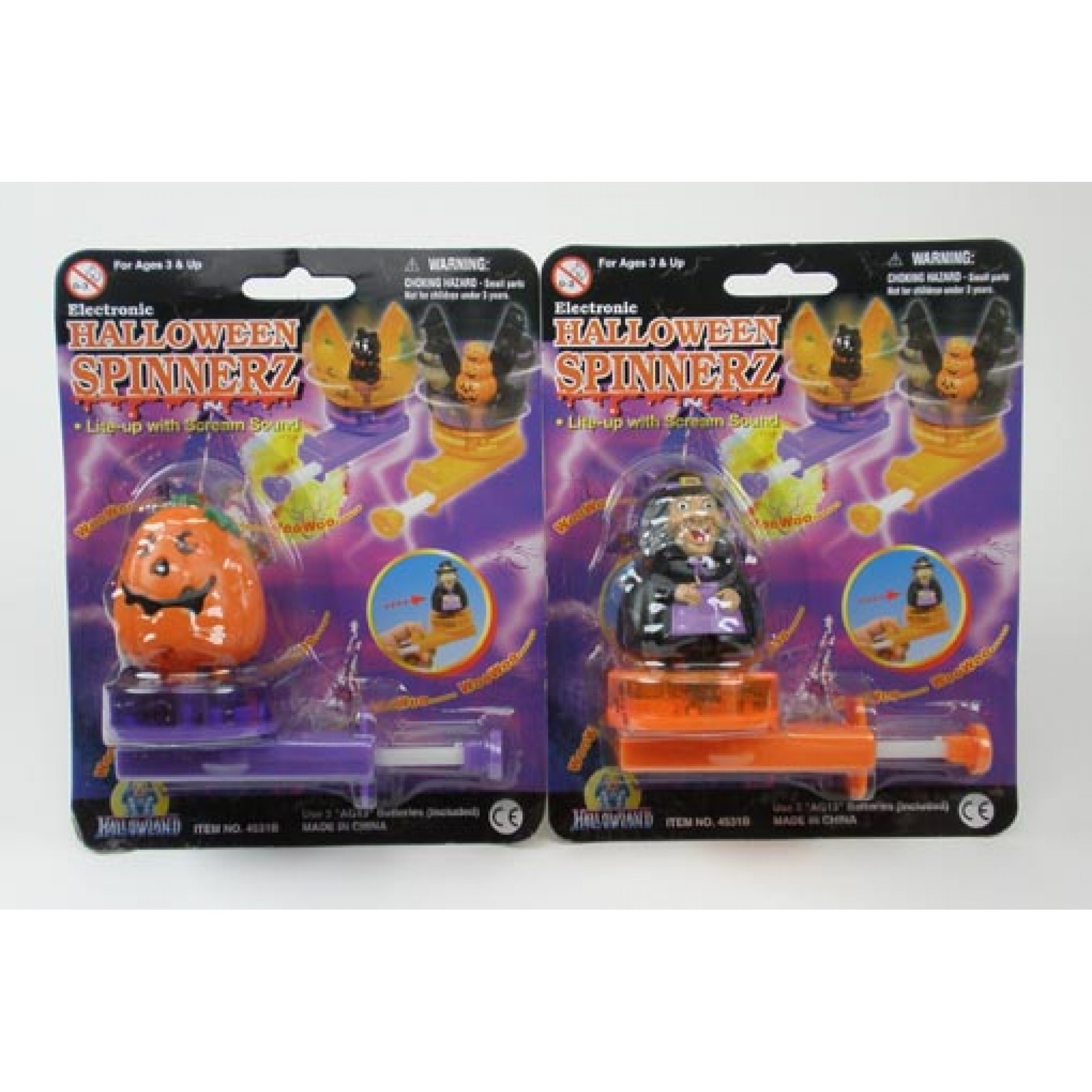 Spinning Pumpkin & Witch