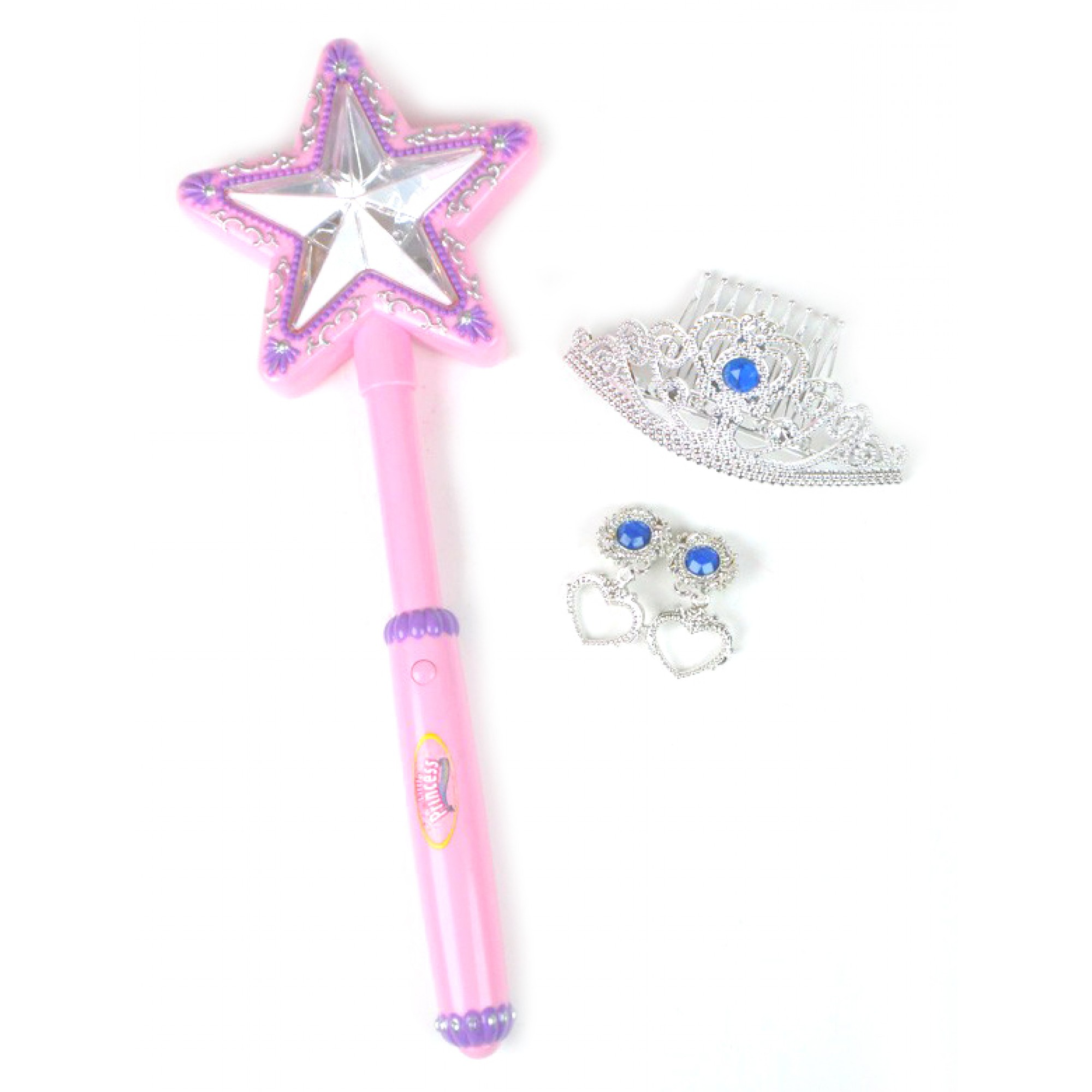Light Up Wand And Jewels Set