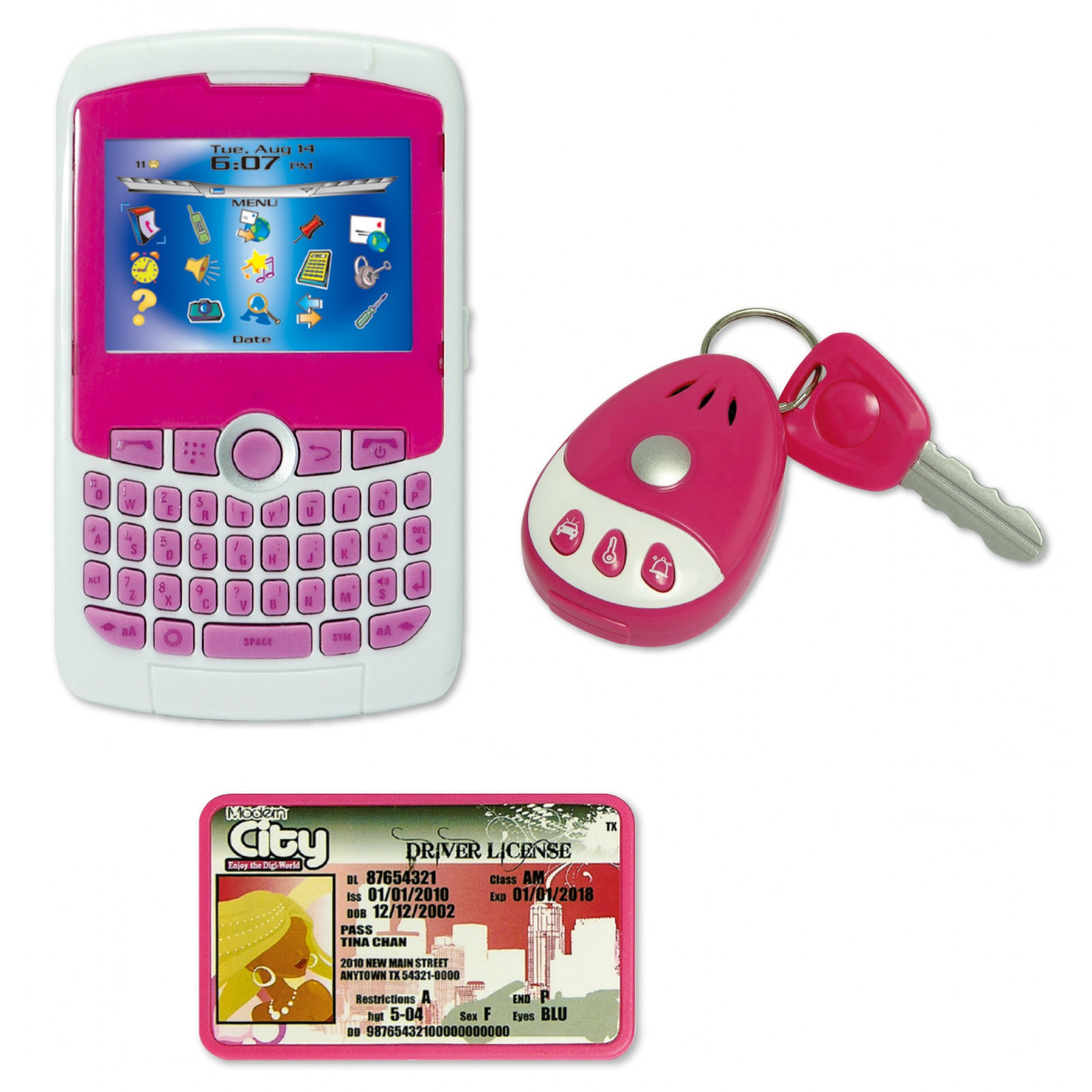 Modern City Play Phone Set w/Car Key